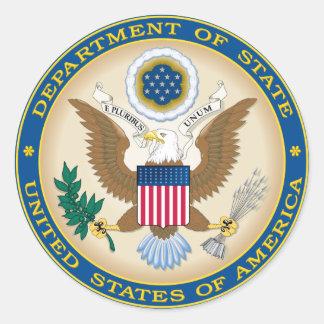 Adesivo Redondo Departamento de Estado dos EUA