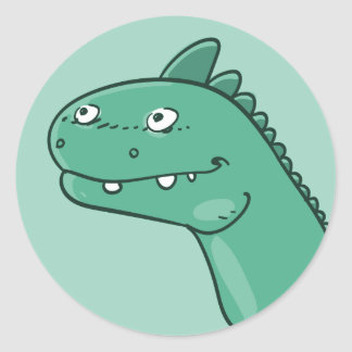 Adesivo Redondo desenhos animados engraçados principais do