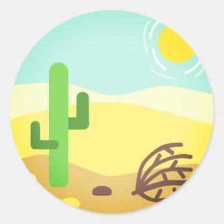 Adesivo Redondo Deserto ardente Emoji