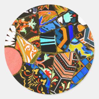 Adesivo Redondo Design abstrato