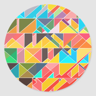Adesivo Redondo Design abstrato triangular
