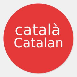 Adesivo Redondo Design Catalan da língua