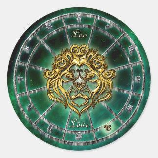 Adesivo Redondo Design da astrologia do zodíaco de Leo