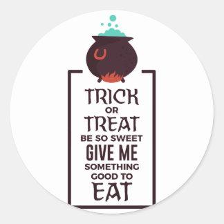 Adesivo Redondo Design doce do Dia das Bruxas dos doces da doçura