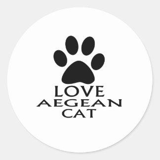ADESIVO REDONDO DESIGN EGEU DO CAT DO AMOR
