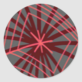 Adesivo Redondo Design exótico de Spiderweb da Web de aranha