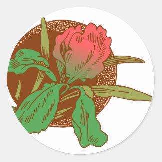 Adesivo Redondo Design floral