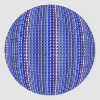 Adesivo Redondo Design geométrico roxo colorido brilhante mega
