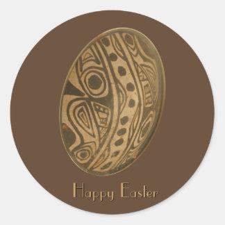 Adesivo Redondo Design maia do ovo da páscoa