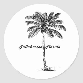 Adesivo Redondo Design preto e branco de Tallahassee & de palma
