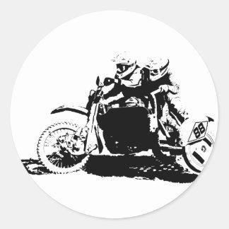 Adesivo Redondo Design simples de Sidecarcross
