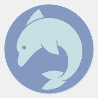 Adesivo Redondo Design simples do golfinho