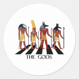 Adesivo Redondo Deuses da estrada da abadia