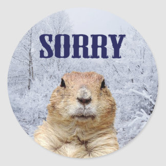 Adesivo Redondo Dia de Groundhog pesaroso