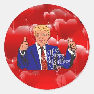 Adesivo Redondo dia dos namorados Donald Trump