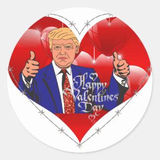 Adesivo Redondo dia dos namorados feliz Donald Trump