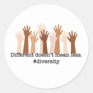Adesivo Redondo Diferente não significa menos: Diversidade