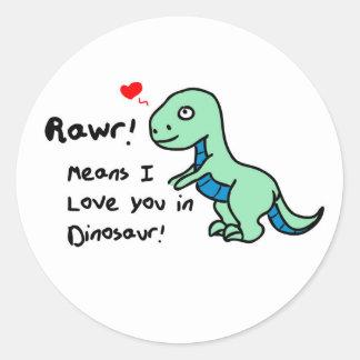 Adesivo Redondo Dinossauro