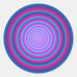 Adesivo Redondo Disco circular louco roxo distorcido hipnótico B