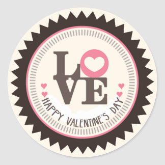 Adesivo Redondo Disposição de feliz dia dos namorados do amor
