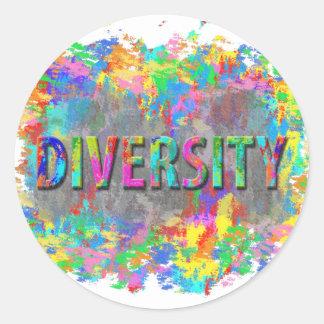 Adesivo Redondo Diversidade