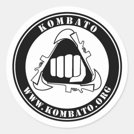 Adesivo redondo do Kombato
