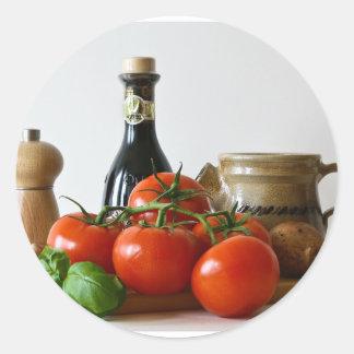 Adesivo Redondo Do tomate vida ainda