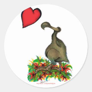 Adesivo Redondo dodo do amor dos fernandes tony