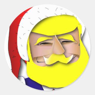 Adesivo Redondo Donald Claus