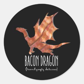 Adesivo Redondo Dragão do bacon