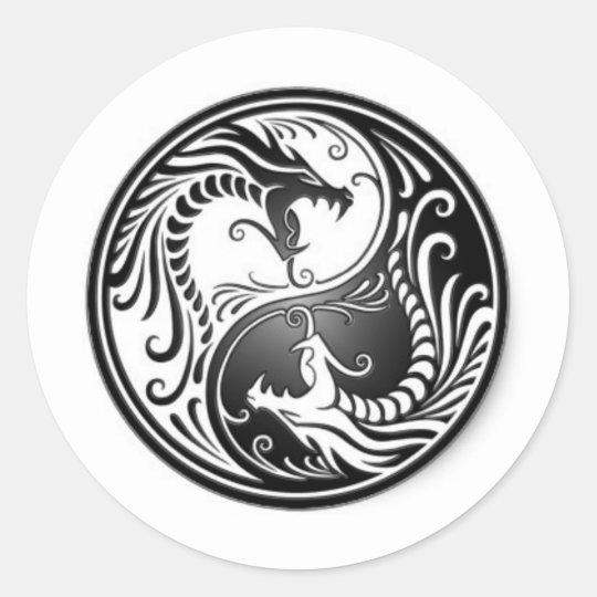 Adesivo Redondo dragoes de yin yang