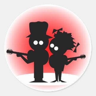 Adesivo Redondo Duo da guitarra