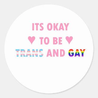 Adesivo Redondo É aprovado ser o transporte e o gay (v1)