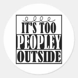 Adesivo Redondo É demasiado parte externa de Peopley Introverts a