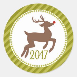 Adesivo Redondo É os selos os mais maravilhosos do Natal do tempo