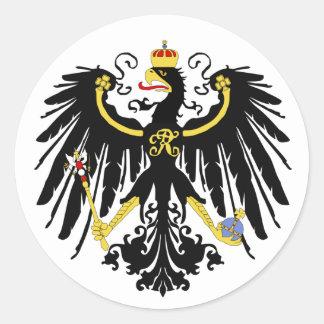 Adesivo Redondo Eagle prussiano - Flagge Preußens - Reichsadle