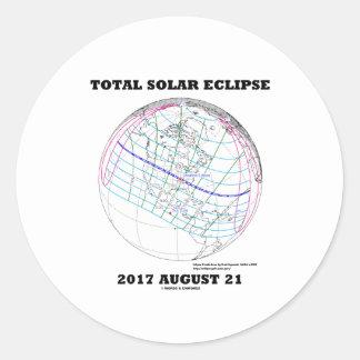 Adesivo Redondo Eclipse solar 2017 o 21 de agosto total America do