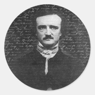 Adesivo Redondo Edgar Allan Poe