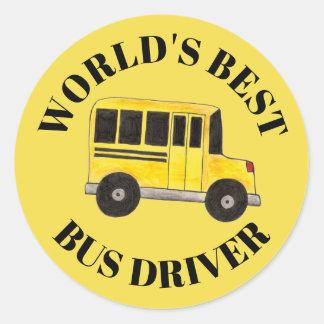 Adesivo Redondo Educação do auto escolar do amarelo do motorista