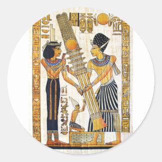 Adesivo Redondo Egipto antigo 1