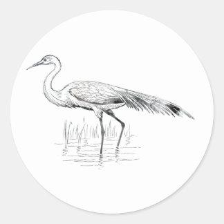 Adesivo Redondo Egret