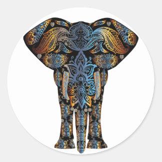 Adesivo Redondo Elefante indiano
