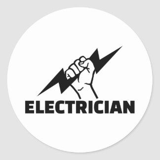 Adesivo Redondo Eletricista