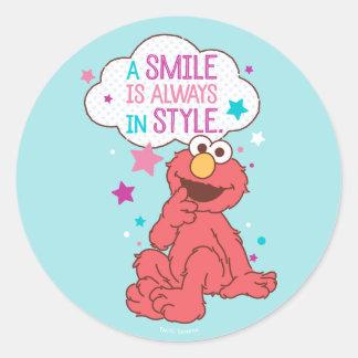 Adesivo Redondo Elmo | um sorriso está sempre no estilo