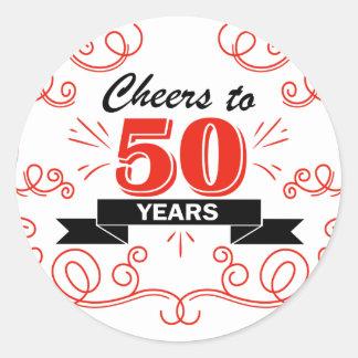 Adesivo Redondo Elogios a 50 anos