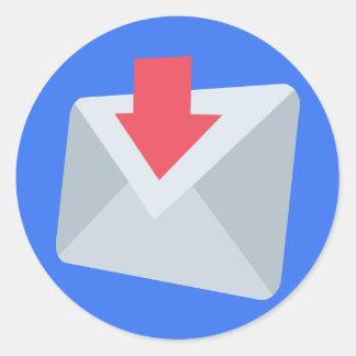 Adesivo Redondo Email Emoji