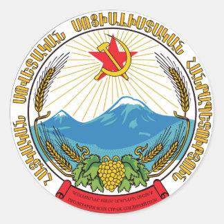 Adesivo Redondo Emblema da república socialista soviética arménia