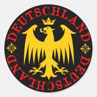 Adesivo Redondo Emblema de Eagle do alemão da alemanha