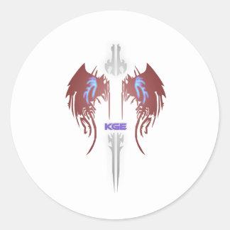 Adesivo Redondo Emblema de KGE mini