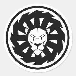 Adesivo Redondo Emblema do leão